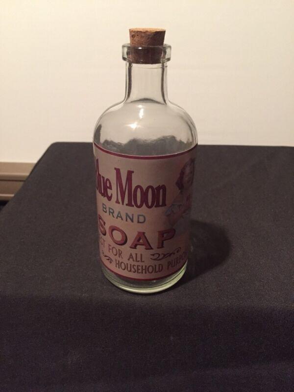 Blue Moon Brand Soap Corked Bottle