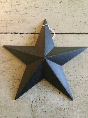 "(Set of 3 )  BLACK BARN STARS 5.5"" PRIMITIVE RUSTIC COUNTRY DECOR ANTIQUE"