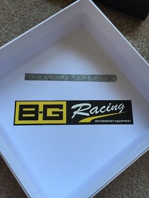Genuine BG RACING Sticker Decal Motorsport, Drift, Track