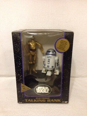 Star Wars C 3Po   R2 D2 Electronic Talking Coin Bank 1995