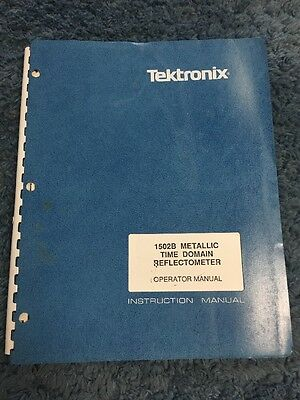Tektronix 1502b Metallic Time Domain Reflectometer Instruction Manual