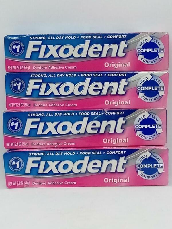 Fixodent Original Denture Adhesive Cream - 2.4 oz, 4 pk
