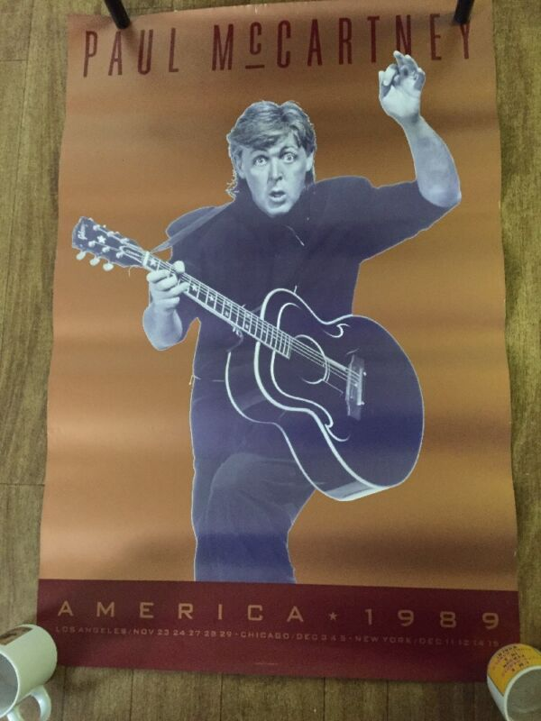 PAUL McCARTNEY – America 1989, Tour POSTER