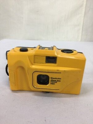 Vtg Kineticolor 35mm Film Yellow Camera Point And Shoot