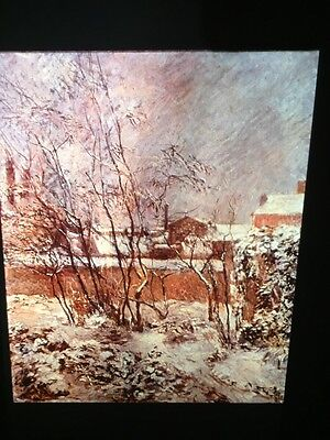 """Paul Gauguin """"Garden In The Snow"""" French Post-impressionism 35mm Art Slide"""