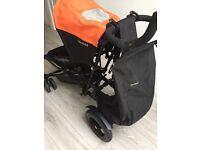 Micralite Twofold Stroller, Orange hood, excellent condition