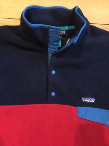 PATAGONIA LIGHTWEIGHT SYNCH SNAP T Raspen Red FLEECE MENS  XXL PULLOVER NWT!