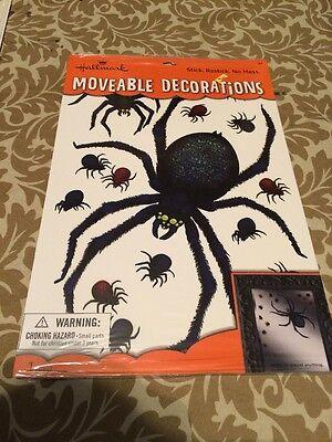 Hallmark Halloween Moveable Decorations Stickers - Spiders Lot Of 3](Halloween Decorations Spiders)