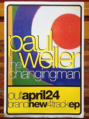 Paul Weller - The Changing Man Ep Original Promo Poster