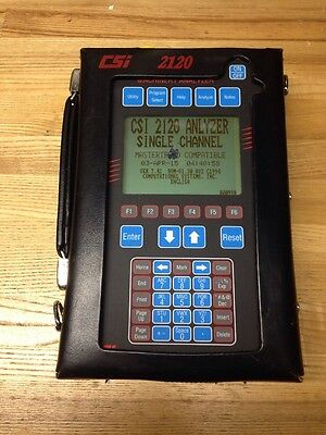 CSI 2120 Machinery Vibration Analyzer  Model 2120-1 w/ Power Supply And Case