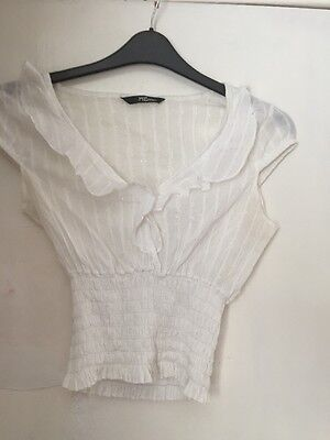 Gorgeous Jane Norman Semi sheer White Ladies Top Size 10 for sale  Shipping to South Africa