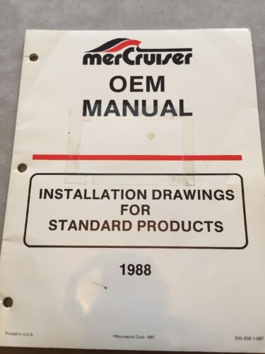 Mercruiser Marine Engine OEM Product Installation Manual MCM-MIE-Several Models