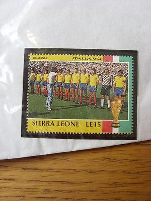 1990 World Cup Stamp: Sierra Leone - Romania Team