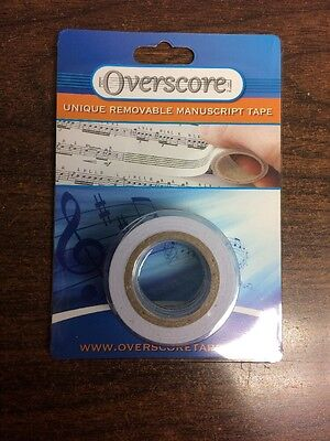 Blank Manuscript Tape Removable New Roll Of 5 Meters