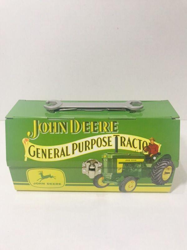 JOHN DEERE Tin Lunchbox - The Tin Box Company - Metal Collectible Tractor