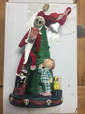 Nightmare Before Christmas Santa Jack Skellington Light Up Ornament BRAND NEW!