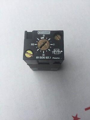Crouzet Control 81506920 Frequency Generator Used Good Sub Base Mounted