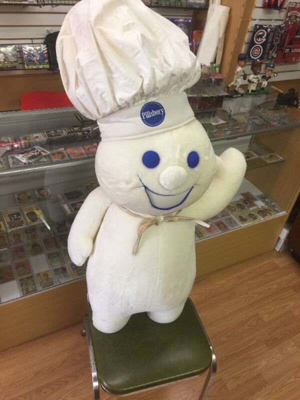 "Huge Vintage 43"" Pillsbury Doughboy Advertising & Promotion Plush Doll Mint"