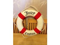 """RARE Juicy Couture 17"""" Red Nautical Wall Decor ship boat life preserver ring"""