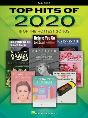 Top Hits of 2020 Sheet Music Easy Piano Songbook Book NEW 000355559