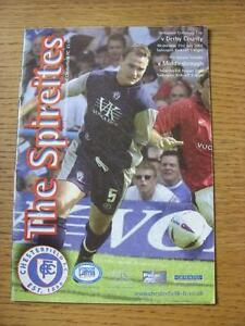 31/07/2002 Derbyshire Centenary Cup Final: Chesterfield v Derby County & 03/08/2
