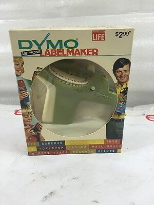 Vintage Dymo 1800 Tapewriter Label Maker In Original Box Various Colors