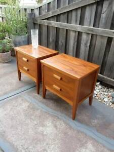Pair of fully restored Danish inspired bedside tables