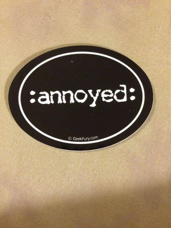 Annoyed Bumper Sticker