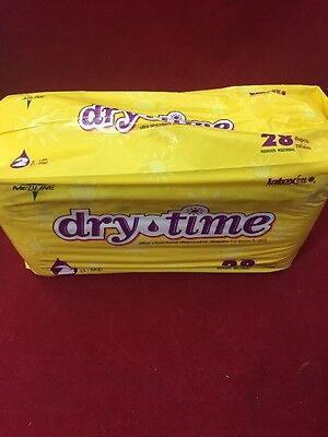 NEW PACK OF 28 MEDLINE Dry Time Diapers Size 2 Small 6-14lbs. (Dry Time Baby Diapers)