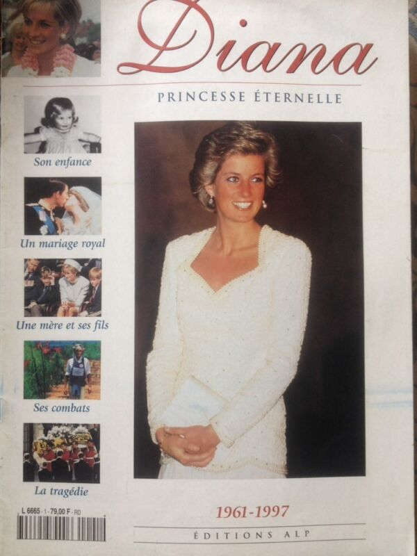 PRINCESS DIANA ETERNEL FROM FRANCE MAGAZINE TRIBUTE PHOTOS 1997 Rare
