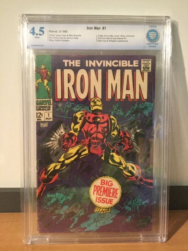 Marvel Comics Iron Man #1 1968 CBCS 4.5 White