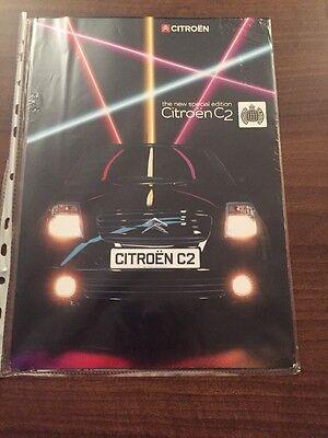Citroen C2 Ministry Of Sound Sales Brochure July 2004