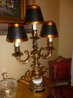 3 abat-jours noir et or  pour lampe chandelier(199)