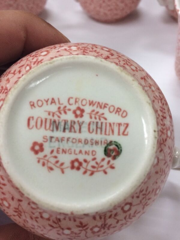 Royal Crownford Country Chintz Staffordshire England 8 Piece Set