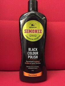 BLACK COLOURED CAR POLISH SIMONIZ BLACK ENRICHED CAR WAX 500 ML