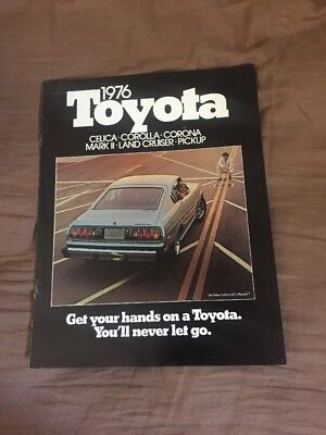 1976 Toyota Celica GT Corolla Land Cruiser Color Brochure Catalog Prospekt