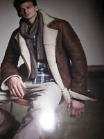 BRAND NEW MENS LUXURY MATINIQUE SHEARLING STEPPE JACKET SIZE XL