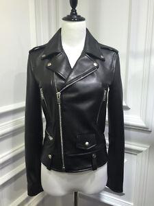 Women-s-Leather-Motorcycle-100-Biker-Jacket-Real-Genuine-Soft-Lambskin-Black