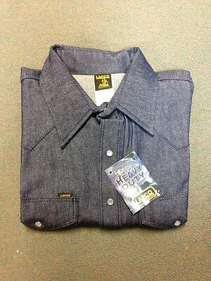 Lapco Blue Denim 10oz Work Shirt 15 X 33 Medium