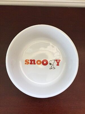 Classic Snoopy Pet Bowl Typography Dog Food Water Ceramic Round New