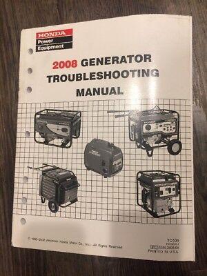 2008 Honda Generator Portable Generator Trouble Shooting Manual Psv52522-j