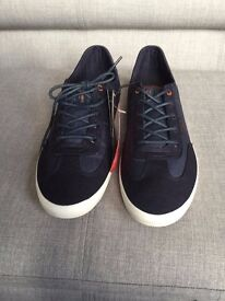 Trendy Jack & Jones canvas sneakers / trainers size 9, new in box RRP £45