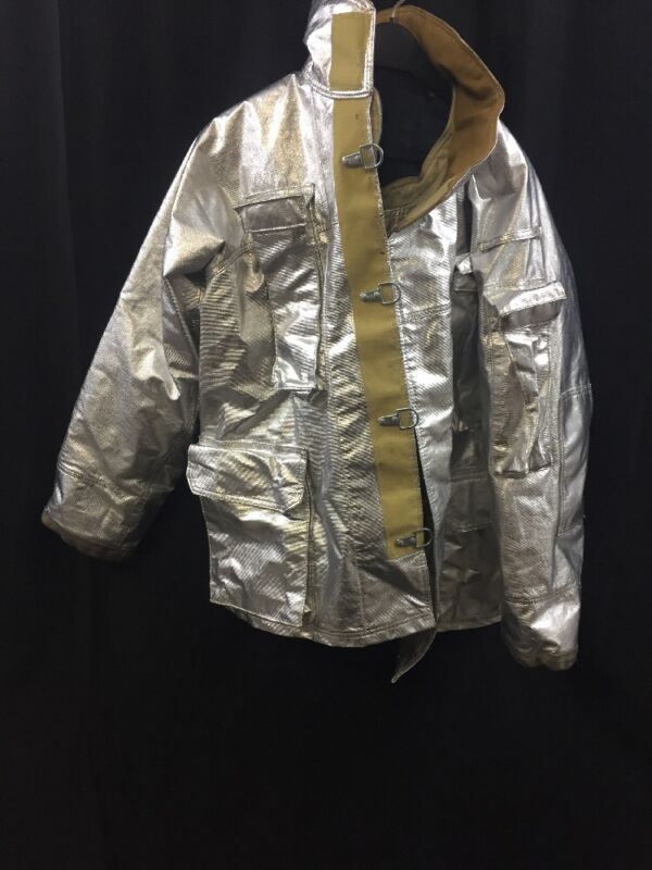 FIRE GEAR Firefighter Proximity Jacket Turnout 91F6 46 Excellent Condition