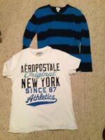 OLD NAVY MENS SWEATER & AEROPOSTALE T-SHIRT SZ LARGE