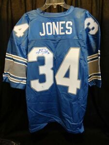 KEVIN JONES Signed Detroit Lions NFL Football Jersey w/COA