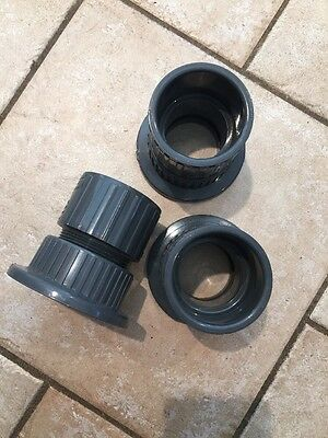 New Lot Of 3 Spears 2 Pvc Pipe Fitting Male Adapter W Reducing Bushing Sch80