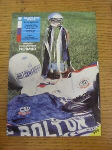 07-11-1989-Bolton-Wanderers-v-Swindon-Town-Football-League-Cup-Item-in-very