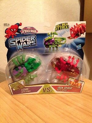 Marvel Ultimate Spider-Man Spider Wars Action Figures Iron Spider-Man & Lizard