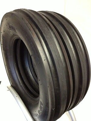 Two 650-16 Heavy Duty Tractor Tires Wtubes F2 6.50-16 Tri Rib 6.50 16 3 Rib