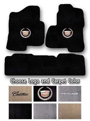 2002-2019 Cadillac Escalade Bench Carpet Floor Mats - Choice of Color & Logo